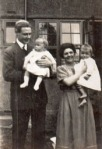 John Noppen and family outside their home at 24 Ludlow road