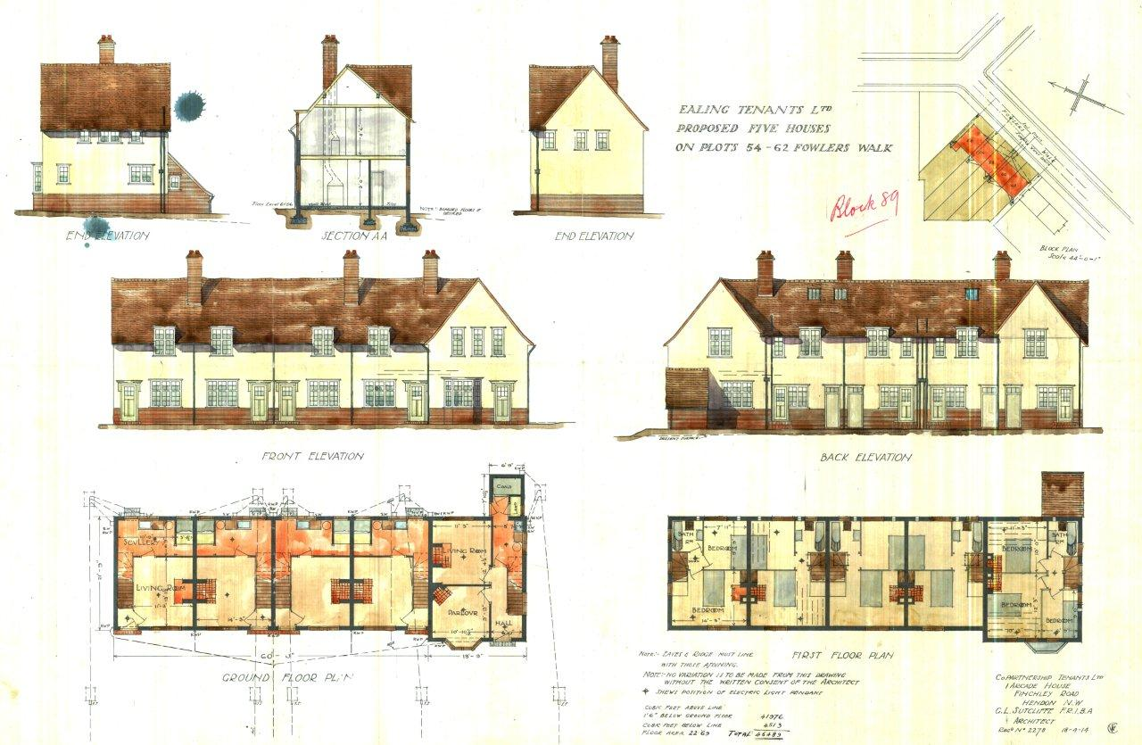 Archive list of coloured architects plans brentham for List of architects